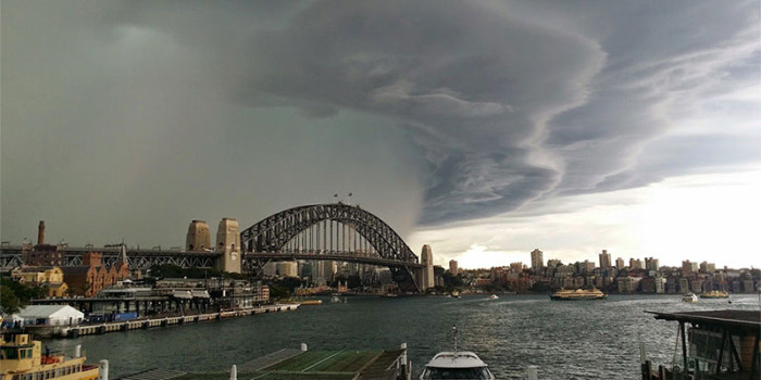 Storm rolling in to Sydney Harbour